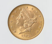 1903 20 Liberty Head Gold Double Eagle Coin Ngc Ms 65 Only 37 Graded Higher