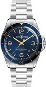 Brand New Bell And Ross Vintage Blue Dial Menand039s Watch Brv292-bu-g-st/sst On Sale