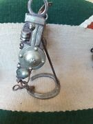 Antique Spade Bit With Silver Inlay