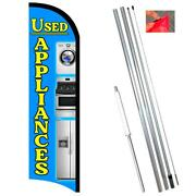 Used Appliances Premium Windless-style Feather Flag Bundle 14' Or Replacement Fl