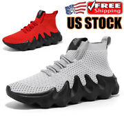 Fashion Menand039s Sports High Top Sneakers Casual Outdoor Athletic Running Shoes Gym