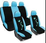 Universal 2/4/9pcs Full Set Auto Color Butterfly Seat Covers Protector For Car
