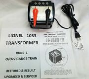 Lionel 1033 Transformer - 90w - Restored, Upgraded And Serviced