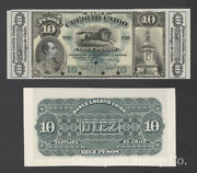 Chile Banknote Proof Catalog S208 Face And Back