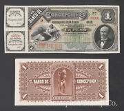 Chile Banknote Proof Catalog S176 Face And Back