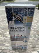 Intex 15ft X 48in Prism Above Ground Swimming Pool Set W/ Ladder Cover And Filter