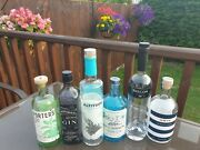 Empty Gin Bottles X6 Ideal For Upcycling Or Display