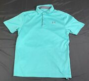 Mens Under Amour Polo Small Teal