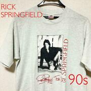 90s Vintage Band T-shirt Rock Rick Springfield Pre-owned Ship From Japan