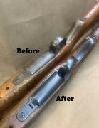 Restored Arisaka Type 99 Parts - Trigger Guard W/ Floorplate And Tang - Rust Blue