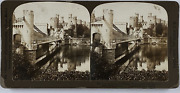 H. C. White Co., North Wales, Conway Castle And Bridge Vintage Stereo Card, H.