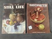 Drawing Lot Of 2 Books Art Secrets And Shortcuts And How To Do Still Life