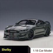 Autoart 1/18 Black Ford Gt350r Shelby Cobra Diecast Alloy Model Cars Best Gift
