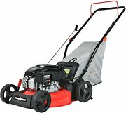 Push Lawn Mower Gas Powered - 17 Inch 127cc 4-stroke Engine 3 In 1 With Bag