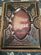 Antique Christian Family Holy Bible W/ Parallel New Testament Published 1881
