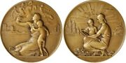 1939 Medal Society Of Medalists 19th Issue Old World-new World By E. Mccartan