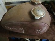Sears Allstate Puch `twingle` 250 Cc. 1960`s `round` Fuel / Oil Tank.