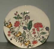 New Dessert Plate Gien, Dominote Hand Painted , From Gien/ With Certificate