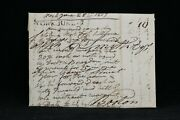 Maine District Of York 1819 Stampless Cover Black Straight Line To Boston