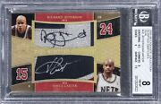 Vince Carter/r Jefferson 2005-06 Exquisite Scripted Swatches Patch Auto /5 Bgs 8