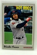 2019 Topps Heritage Minor League Hot Rods Wander Franco Card 1 Tampa Bay Rays
