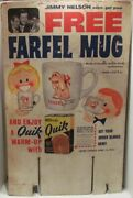 Nestles Quik Store Display Sign Jimmy Nelson, Danny O'day And Farfel Mug Offer