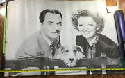 The Thin Man William Powell, Myrna Loy And Asta Authentic 27 X 41 Inches