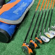 Ping Moxie Junior Golf Set Clubs And Bag And Head Covers Driver Hybrid Irons Nike