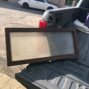 """Gorgeous Vintage Antique Transom Window Privacy Glass Pattern Detail 36/16/1.5"""""""