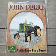 John Deere Sign Nothing Runs Like A Deere New Old Stock Discontinued
