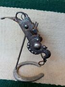 Antique Spade Bit With Silver Inlay Very Old Early California Bit.