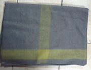 Indian War Cavalry Blanket - Wool - Grey With Yellow Stripe On 4 Sides - New