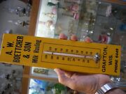 Vtg Advertising Thermometer A. W. Boettcher And Son Dairy Milk Hauling Grafton Wi