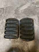 Antique Cast Iron Corn Bread Pan Mold. Lodge 7. 2 Pack Fast Free Shipping