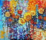 A Little Piece Of Summer. Palette Knife Oil Painting 50x60cm.andnbsp