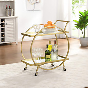 Firstime And Co. Gold Odessa Bar Cart American Crafted Gold 28 X 14 X 32