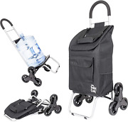 Dbest Products Stair Climber Trolley Dolly Folding Grocery Cart 3 Wheels Heavy D