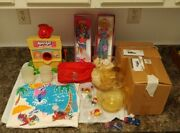 Vintage 1980s 1990s Kool Aid Lot Sno Cone Shirt Pvc Barbie Pitcher Mail In Car