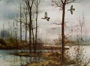 David Hagerbaumer Narrows - Wood Duck Signed Limited Edition On Paper