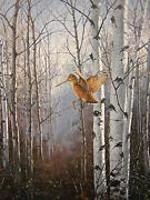 David Maass Misty Morning Woodcock Artistand039s Proof On Paper