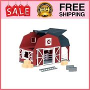Wooden Animal Barn Andndash Toy Farm Toys Playset For Kids...