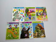 Lot Of 6 Vintage Golden And Whitman Frame Tray Puzzles - Disney And Sesame Street