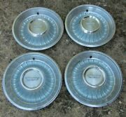 1962 Cadillac Hubcap And Crest Original Wheelcover Set 4 Used Hubcaps 62