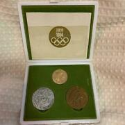 1964 Tokyo Olympics Commemorative Coins Gold Silver And Copper Set