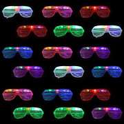 18 Packs Led Lights Up Glasses Glow In The Dark Party Supplies Shutter Shades
