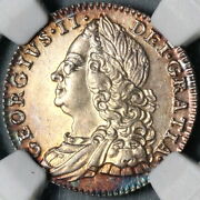 1758 Ngc Ms 64 George Ii 6 Pence Great Britain Mint State Coin 21072601c