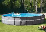 💦 Intex 26ft X 52in Ultra Xtr Round Frame Pool Set With Sand Filter Pump Pickup