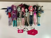 Monster High Doll Lot Of 8 Dolls + 2 Furniture Ooak Lot Some Missing Limbs Pics