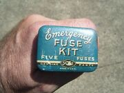 Very Old 1940s Original Ford Motor Co. Fuse Auto Can Accessory Vintage Tool Kit