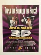Star Wars Anh 3di Trading Cards Promo Sell Sheet 8x11 By Topps